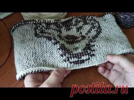 Самый простой способ вязания жаккарда тунисским вязанием, мастер-класс