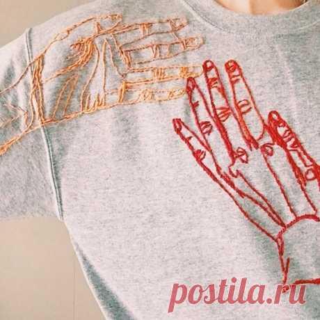 Чем удивить подростка? Вышивка на футболках - современный тренд. | ART_i_STITCH | Яндекс Дзен