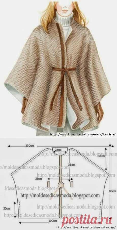 Утепляемся к осени: 8 суперпростых швейных идей + схемы с размерами   Сделуха   Яндекс Дзен