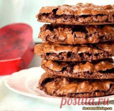 Шоколадно-ореховое печенье без муки :: #forumroditeley #форумродителей #социальнаясеть #дети