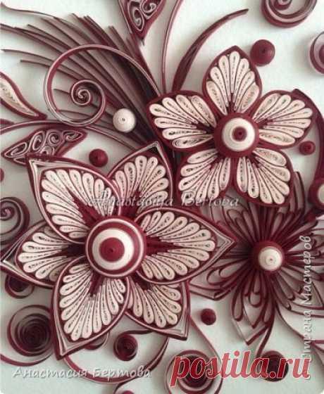Фантазийные цветы в технике квиллинг. Мастер-класс Анастасии Бертовой