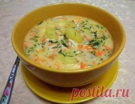 Как приготовить сырный суп с куриным филе - рецепт, ингредиенты и фотографии