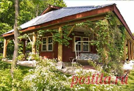 Недорогой дачный дом из глины