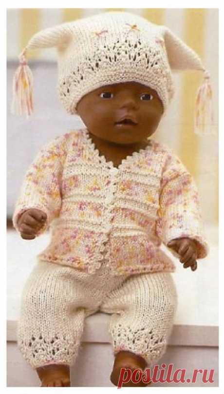 Вязаная одежда для кукол со схемами и описанием - 2