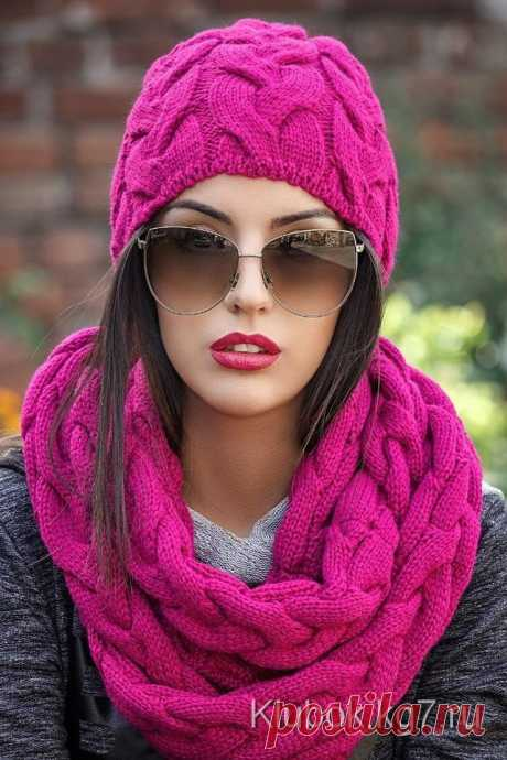 Шали, шарфы, шапочки спицами 50