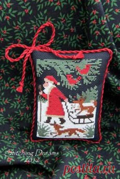 Традиционная вышивка крестиком бисером к нг и Рождеству