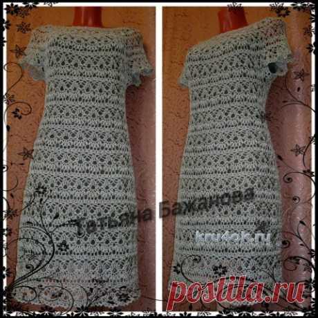 Вязаное крючком платье. Работа Татьяны Бажановой