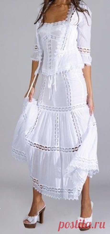 Одежда белого цвета. (Подборка)