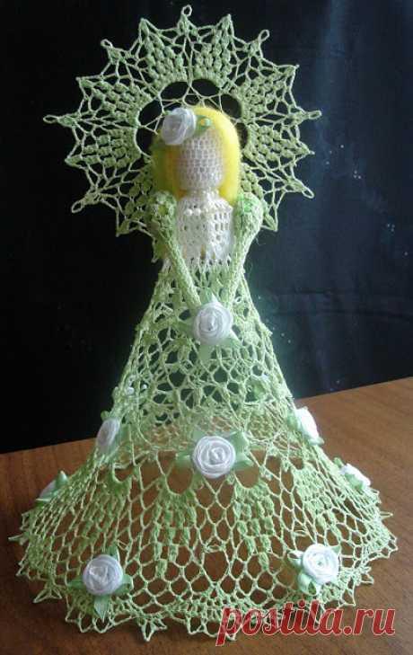 Needlework.: Crochet angels ....Вязаные ангелы.