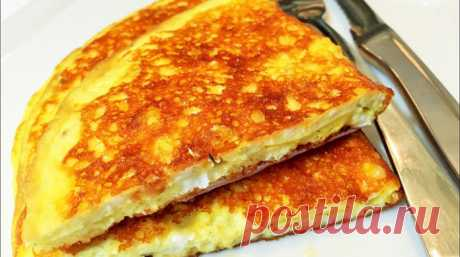 Сырный хрустящий омлет за 3 минуты - lublugotovit.me