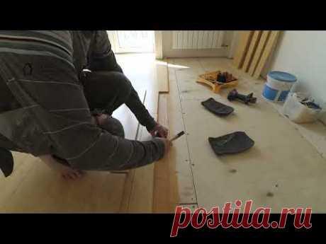Укладка массива на деревянное основание