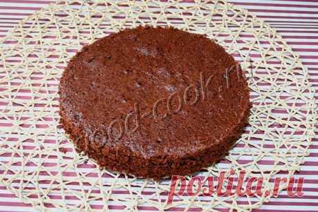 Масляный бисквит на шоколаде. Рецепт приготовления