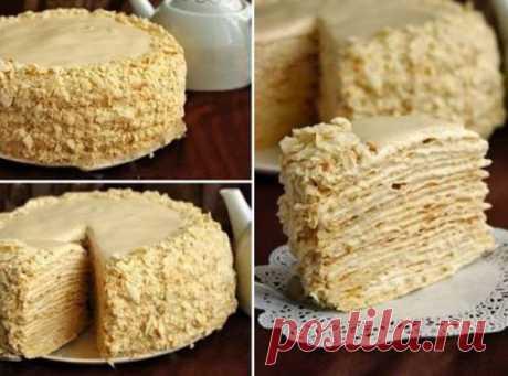 Торт «Наполеон» с очень вкусным кремом – В Курсе Жизни