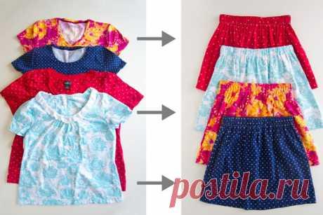Как сшить юбку для девочки из старой футболки за 10 минут :: Детский гардероб :: Для дома :: Для родителей :: Все о детях