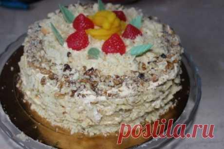 Наполеон с ореховым безе : Торты, пирожные