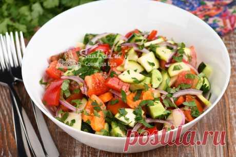 Овощной салат со свежим кабачком и вкусной заправкой   Совет да Еда   Яндекс Дзен