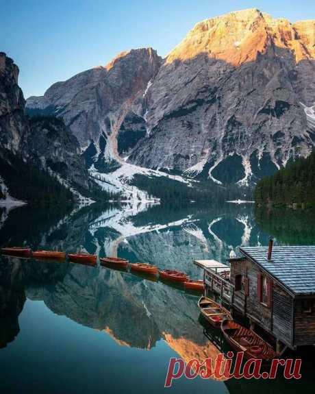 Брайес - самое красивое озеро Италии..
