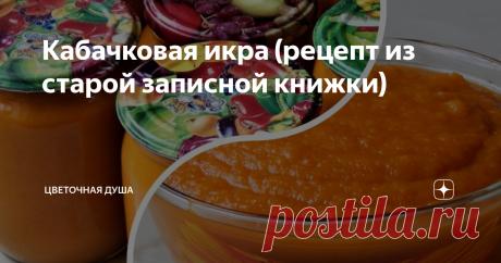 Кабачковая икра (рецепт из старой записной книжки) Рецепт приготовления очень вкусной кабачковой икры