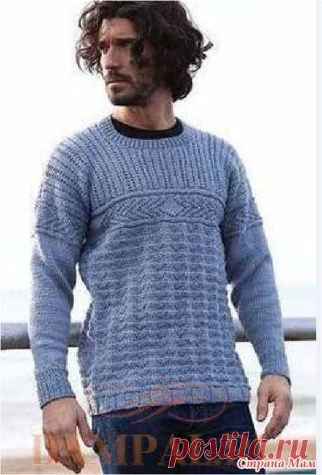 Мужской пуловер «Элементы Ганси» - Вязание - Страна Мам
