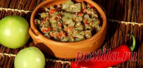 La ensalada georgiana de los tomates verdes – Toda La sal - el blog culinario de Olga Baklanovoy