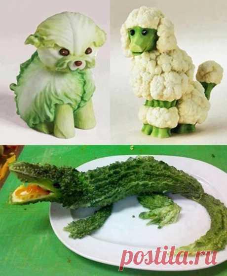 Поделки из овощей и фруктов для детского сада и школы!!