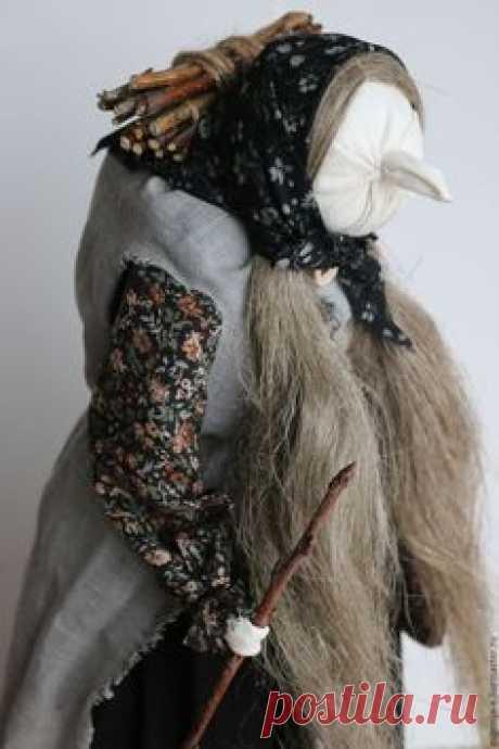 """Купить """"Баба-яга"""" Авторская кукла-образ - черный, баба-яга, народная традиция"""