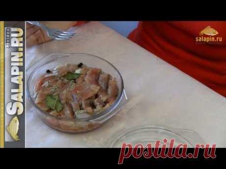 Домашний засол красной рыбы в рассоле [salapinru] - YouTube