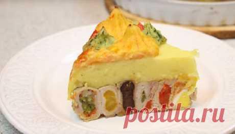 Красивый и очень вкусный мясной торт: шикарное блюдо