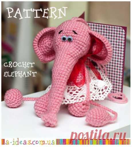 Handmade ideas: Pattern: crochet elephant