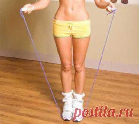 Упражнения со скакалкой для похудения.