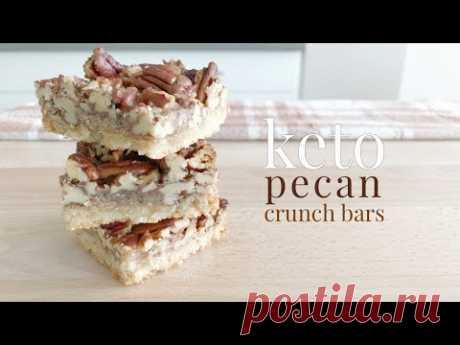 Keto Pecan Crunch Bars