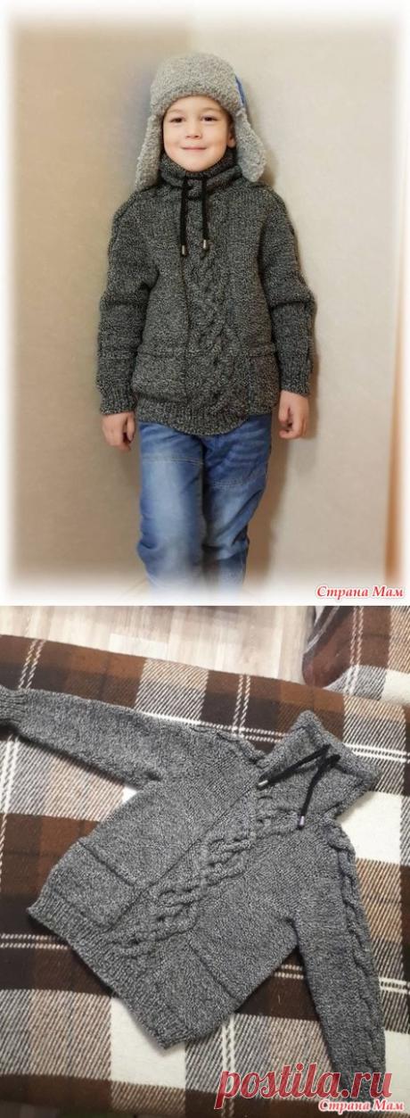 . Теплый свитер внуку (спицы) - Вязание - Страна Мам