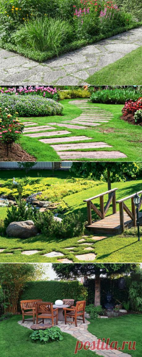 Садовые дорожки: варианты удобных маршрутов