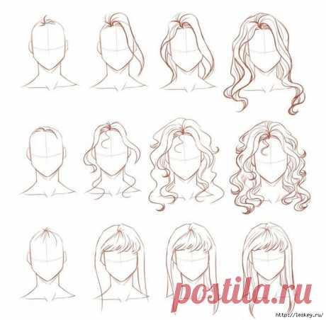 простой урок рисования волос - Самое интересное в блогах