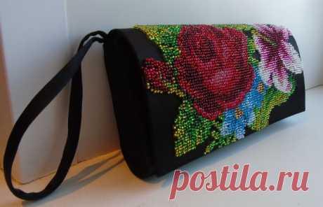 Идеи красивых вышитых сумочек без фермуара — Рукоделие