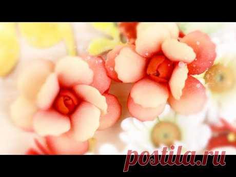 Роза из фоамирана с волнистыми лепестками / Цветы для скрапбукинга и украшений /Фоамиран DIY