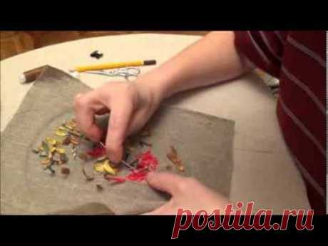 Embroidery tapes for beginners. Registration of a wrong side