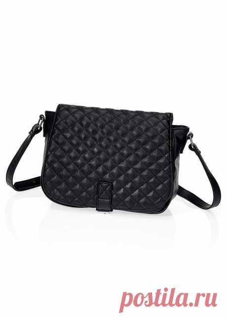 2b225023a98a Стеганая сумка на ремне через плечо черный - Обувь - bpc bonprix collection  - bonprix.