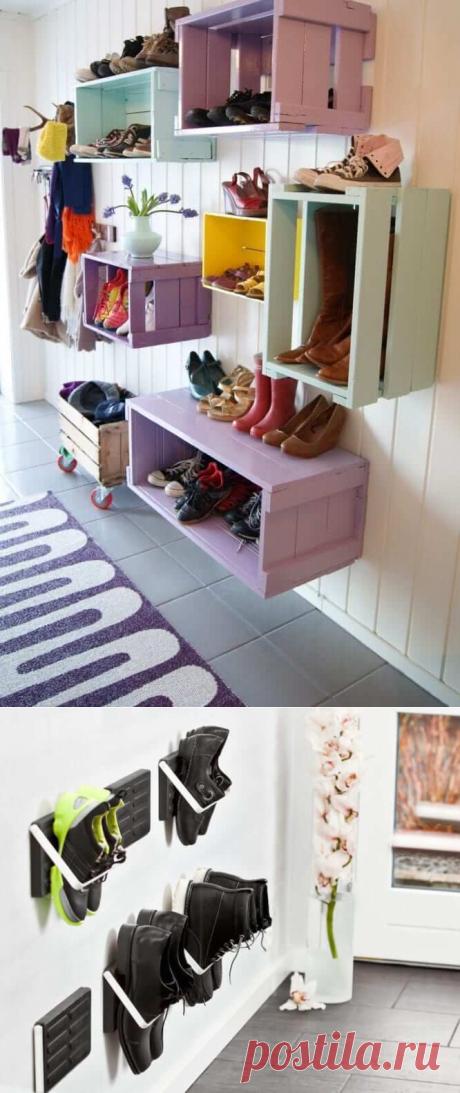 12 идей о том, как упорядочить обувь в доме