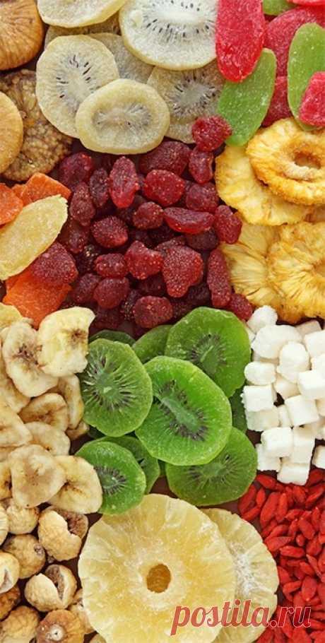 Как правильно выбирать СУХОФРУКТЫ.   1. Курага  5 вяленых абрикосок содержат дневную норму калия и железа, витамины группы В ...