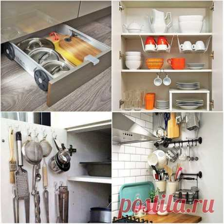 10 гениальных идей и способов хранения в маленькой кухне | Дневник архитектора | Яндекс Дзен