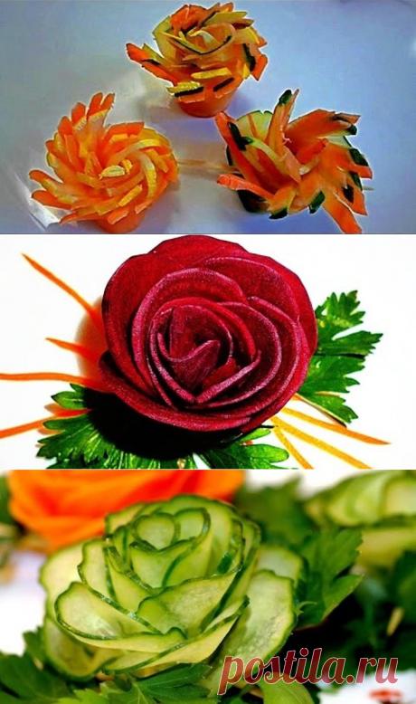Украшения блюд из овощей.