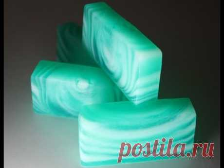 Хвойное мыло со свирлами. Conifer soap with swirls. - YouTube