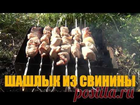 Сочный шашлык из свинины в уксусном маринаде с луком - YouTube