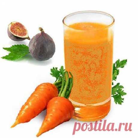 Напиток из моркови и инжира - эликсир жизненной энергии