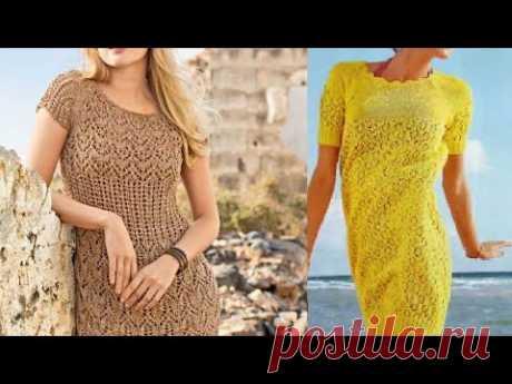 Женские платья спицами со схемами - Women's dresses with knitting needles with patterns