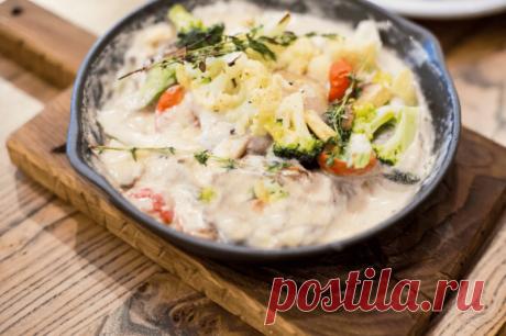 Овощи в сливочном соусе — Кулинарная книга - рецепты с фото