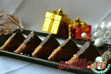 """Новогоднее пирожное """"Ореховые треугольники"""" - ладненькие-шоколадненькие, опасные - не удержаться от сооблазна!"""
