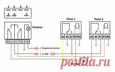 3 схемы применения кнопки стеклоподъёмника. | AvtoTechLife | Яндекс Дзен
