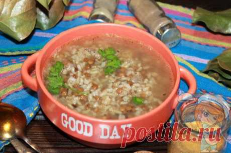 Чечевичный суп с бурым рисом - рецепт постного супа Чечевичный суп с бурым рисом эффективно борется со старением, рекомендован при правильном питании. Пошаговый рецепт с фото